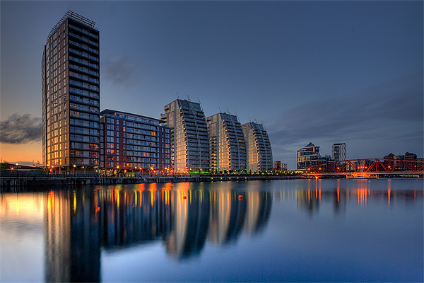 Reflections at Salford Quays Canvas print by Jeni Harney