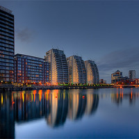 Buy canvas prints of Reflections at Salford Quays by Jeni Harney