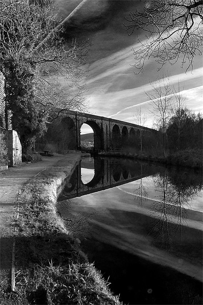 Uppermill Viaduct Canvas print by Jeni Harney