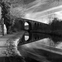 Buy canvas prints of Uppermill Viaduct by Jeni Harney