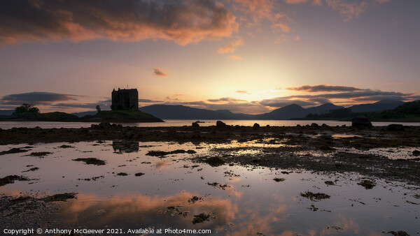 Sunset on Loch Laich Scotland  Print by Anthony McGeever