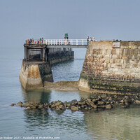 Buy canvas prints of Whitby pier by Sue Walker