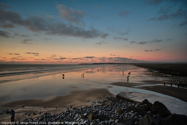 Westward Ho! sunset Canvas Print by James Moore