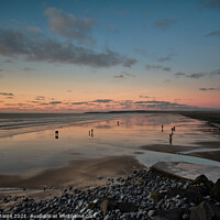 Buy canvas prints of Westward Ho! sunset by James Moore