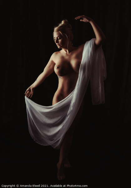 Art Nude Framed Mounted Print by Amanda Elwell