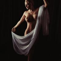 Buy canvas prints of Art Nude by Amanda Elwell
