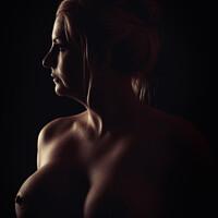 Buy canvas prints of Art Nude Portrait by Amanda Elwell