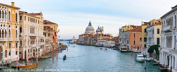 Grand Canal with Santa Maria della Salute at background, Venice, Italy Print by Chun Ju Wu