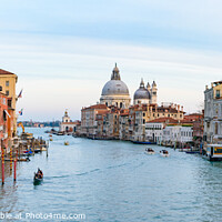 Buy canvas prints of Grand Canal with Santa Maria della Salute at background, Venice, Italy by Chun Ju Wu