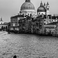 Buy canvas prints of Grand Canal in Venice (black & white) by Chun Ju Wu