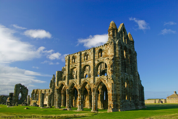 Whitby Abbey Print by Nic Croad