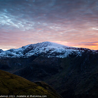 Buy canvas prints of Snowdon group sunset by John Henderson