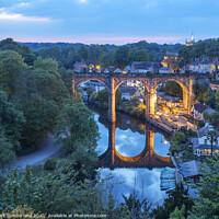 Buy canvas prints of Railway Viaduct at Knaresborough by Mark Sunderland