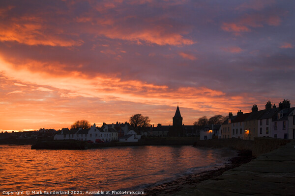 Anstruther at Sunset Print by Mark Sunderland