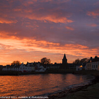 Buy canvas prints of Anstruther at Sunset by Mark Sunderland