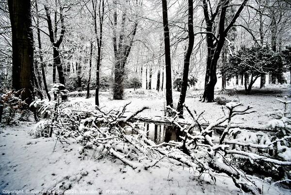 WINTER ARRIVES Framed Print by Russell Mander