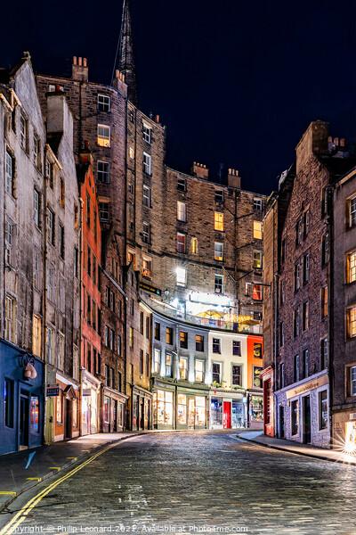 Victoria Street, Edinburgh, Scotland. Canvas Print by Philip Leonard
