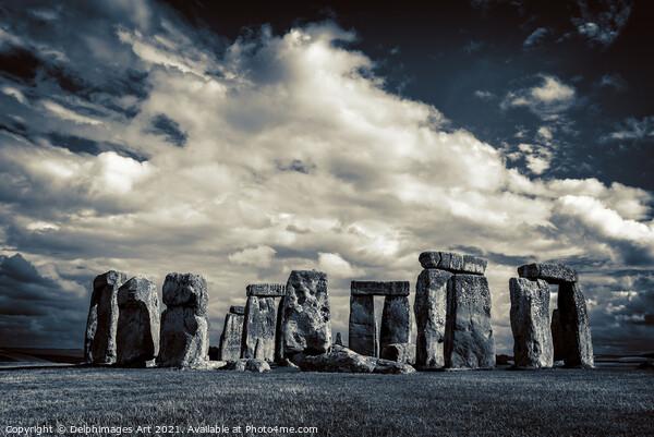 Stonehenge dark Canvas Print by Delphimages Art