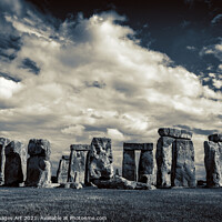 Buy canvas prints of Stonehenge dark by Delphimages Art