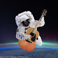 Buy canvas prints of Space guitar by Delphimages Art