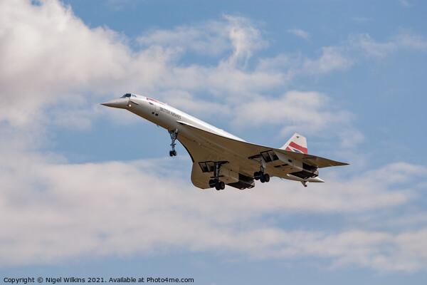 Concorde Framed Print by Nigel Wilkins