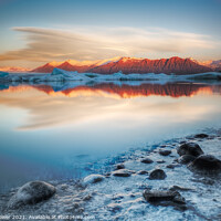 Buy canvas prints of Frozen Shore by Tony Prower