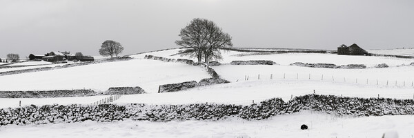 Yorkshire Dales in the Snow Print by Sonny Ryse