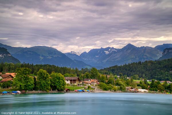 Lake Brienz Switzerland Acrylic by Tahir Iqbal