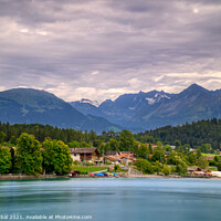Buy canvas prints of Lake Brienz Switzerland by Tahir Iqbal