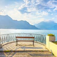 Buy canvas prints of Bench Lake Como. Bellagio by Stefano Orazzini