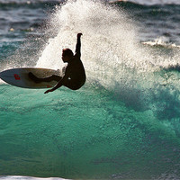 Buy canvas prints of Surfing in Cornwall by Geoff Tydeman