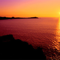 Buy canvas prints of Newquay Sunset by Geoff Tydeman