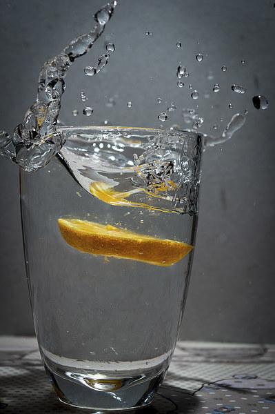 Orange Splash Canvas print by Chris Walker
