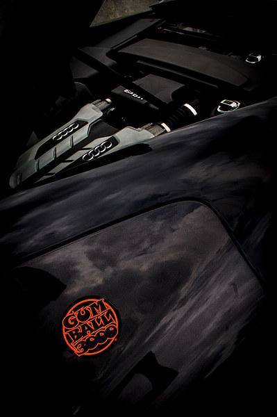 Gumball 3000 Audi R8 Engine Print by Chris Walker
