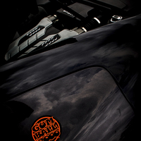 Buy canvas prints of Gumball 3000 Audi R8 Engine by Chris Walker