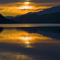 Buy canvas prints of Sunset on Loch Long by Gilbert Hurree