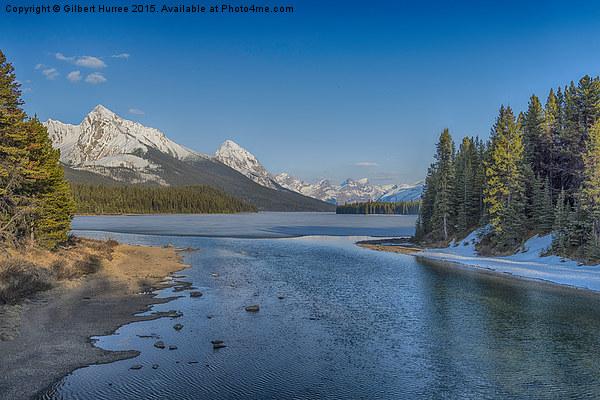 The Frozen Lake view  Canvas print by Gilbert Hurree