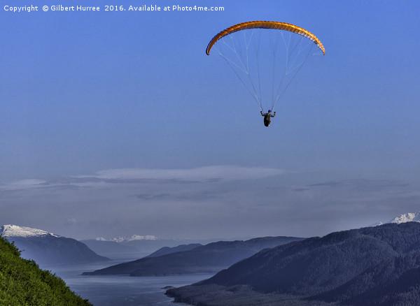 Paragliding in Alaska Canvas print by Gilbert Hurree
