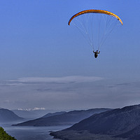 Buy canvas prints of Paragliding in Alaska by Gilbert Hurree