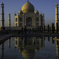 Buy canvas prints of The Taj Mahal at Dusk by Gilbert Hurree