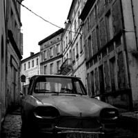 Buy canvas prints of Old French Car by Dave Menzies