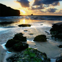 Buy canvas prints of Trevaunance Cove in Portrait, Cornwall by Simon Gladwin