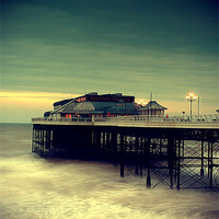 Buy canvas prints of Cromer Pier Norfolk by Simon Gladwin