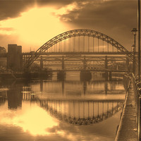 Buy canvas prints of Sepia Tyne by George Young