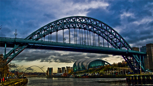 3 Tyne Icons Framed Print by CHRIS ANDERSON