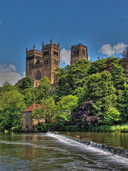 Durham Cathedral Canvas print by CHRIS ANDERSON