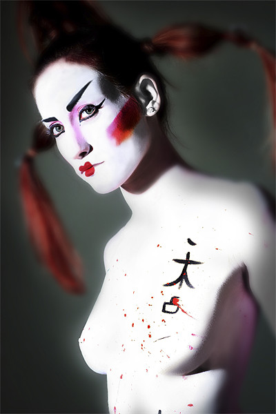 Female Model dressed in Japanese style Canvas print by PhotoStock Israel