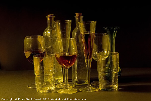 cocktail and wine glasses Framed Mounted Print by PhotoStock Israel