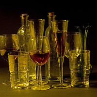 Buy canvas prints of cocktail and wine glasses by PhotoStock Israel