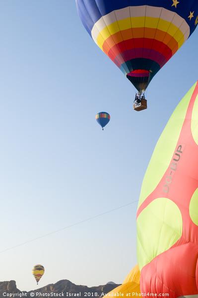 Hot Air Balloon show  Print by PhotoStock Israel